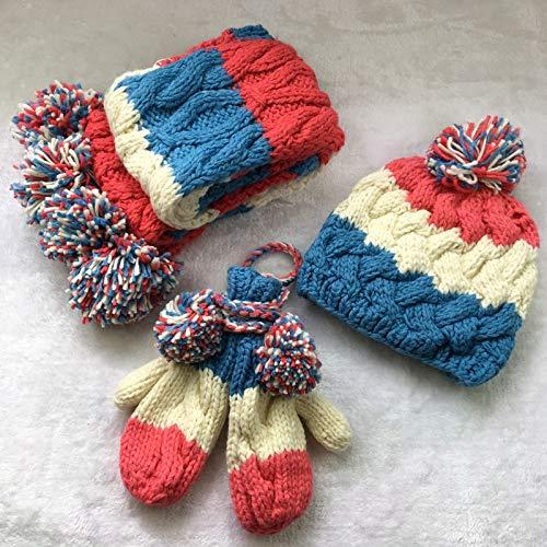Kinder Warme Wintermütze Stricken Hutstrickmütze Schalbean Hut