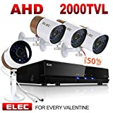ELEC 8-Channel 1080N CCTV Security Camera System,720P AHD DVR Recorder with (4) 2000TVL Indoor/Outdoor Weatherproof Surveillance Cameras,No Hard Drive Review