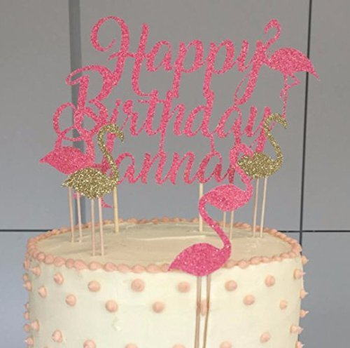Flamingo Happy Birthday Cake Topper For Any Party