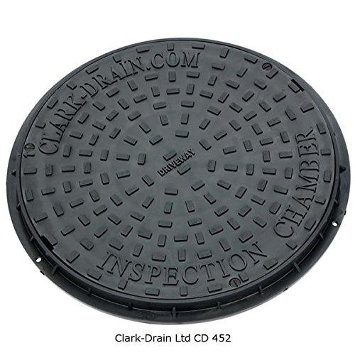 rund rund Clark-Drain CD452 Polypropylen-Abdeckung mit Rahmen 550 mm 3,5 Tonnen Auffahrt geeignet f/ür alle 450 mm Riser