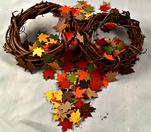 Autumn leaves Thanksgiving table scatter confetti