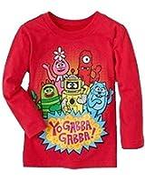 Yo Gabba Gabba Red Long Sleeve Shirt Tee Toddler Girl Or Boy 4T