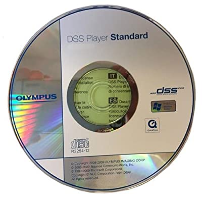 Olympus AS-49 DSS Player Standard 1.0 - Computer Support Software for DS-Series, WS-Series and VN-3200 and VN-5200 PC Digital Voice Recorders