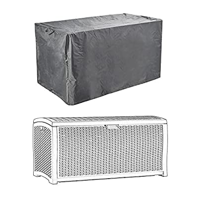 Patio Deck Box Covers Waterproof Durable to Protect Large Deck Boxes