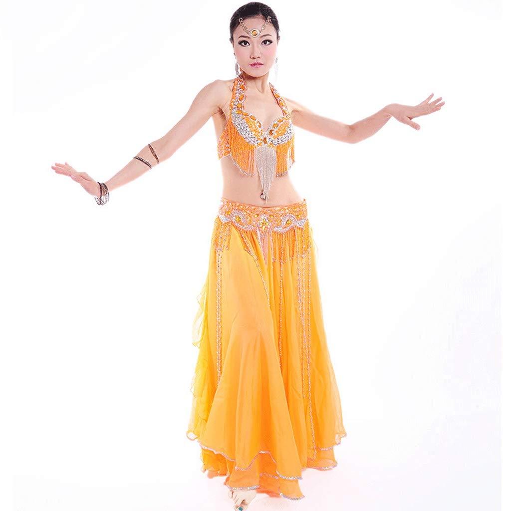 新しい季節 ベリーダンス衣装パフォーマンス衣装ダンススーツ、ビーズの光沢のあるブラウエストバンドワンピースA-D、7色3PCS S B07Q797GHJ オレンジ S B07Q797GHJ s|オレンジ オレンジ S s, ソックスエイド ジャパン:59071928 --- a0267596.xsph.ru