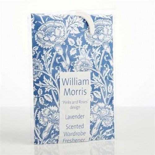 2 X William Morris Lavender 'Pink and Roses' design Wardrobe Freshener made in Suffolk, England The Master Herbalist