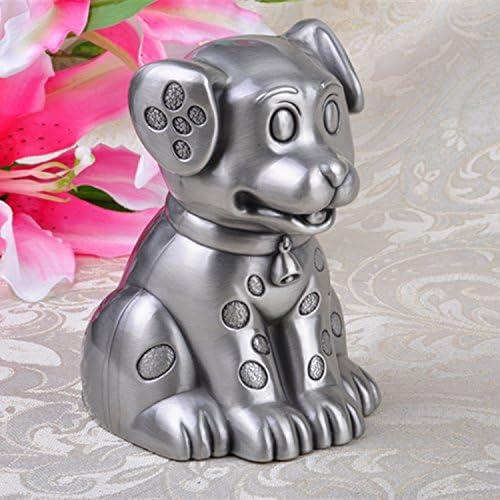 SU@DA Metall-Handwerk entdeckt Hund Geld Box Sparschwein Kinder kreative kleine Hund Sternzeichen Geschenke nach Hause Ornamente , ancient tin , 9.7x8.9x12.6cm