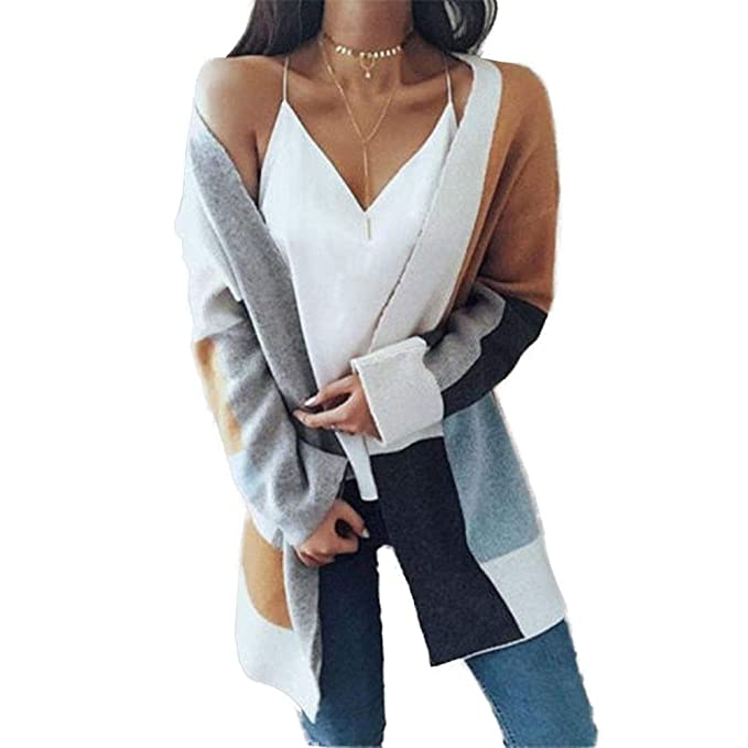 d21fa9bf8 Image Unavailable. Image not available for. Color  Lanyan Womens Batwing  Long Sleeve Cardigan Sweaters Oversized ...