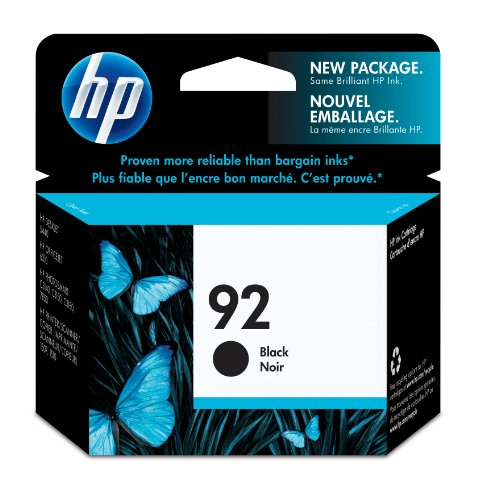 HP 92 Black Original Ink Cartridge (C9362WN) (Ink C9362wn Black)