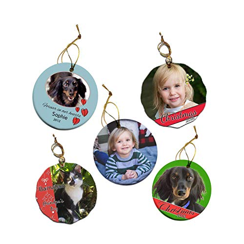 Custom Personalized Porcelain Christmas Tree Photo Ornament