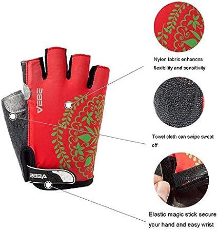 VEBE Womens Biking Cycling Gloves Non-Slip Shockproof Short Finger Gloves Outdoor Riding Mountain Bike Gloves/…