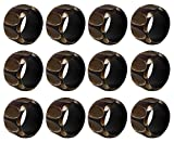 SKAVIJ Napkin Rings Set of 12 Holders for Dinners Parties, Everyday Home Table Decoration Accessory