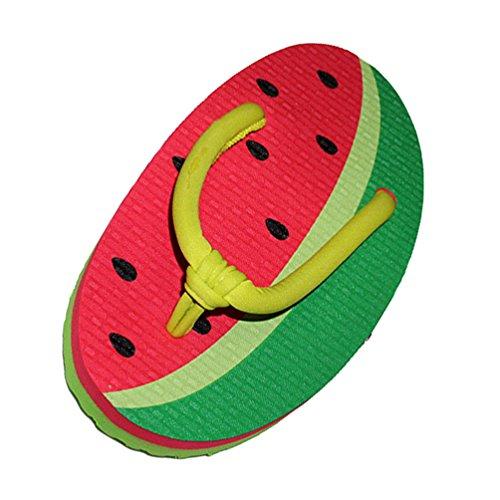 2 Chengyang Créatif Tongs Eté Fruits Flops Chaussure Flip Pantoufles Pastèque Femme nbsp;forme Plage FcTJ3lK1