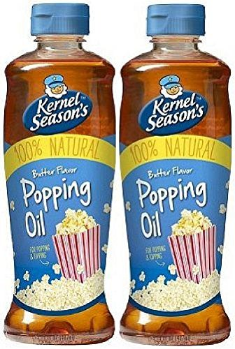 Kernel Season's Movie Theater Butter Popcorn Popping & Topping Oil 100% Natural 13.75 Oz (2 Pack) by Kernel Season's (Oil Topping)