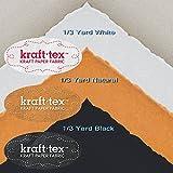KRAFT-TEX 3-PIECE MEDIUM SAMPLER Natural White Black Wash Sew Leather-Like Paper