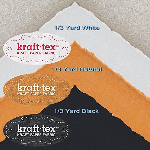 KRAFT-TEX 3-PIECE MEDIUM SAMPLER Natural White Black Wash Sew Leather-Like Paper by energi8_sma