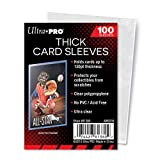 Ultra Pro Thick Card Sleeves for Thick Jersey or Memorabilia Sports Trading Cards by Topps