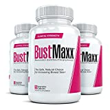 BUSTMAXX (3 Bottles) - Professional Strength Breast Enlargement, Bust Augmentation Pills. Safe, Natural Breast Enhancement that Works - 60 Capsules