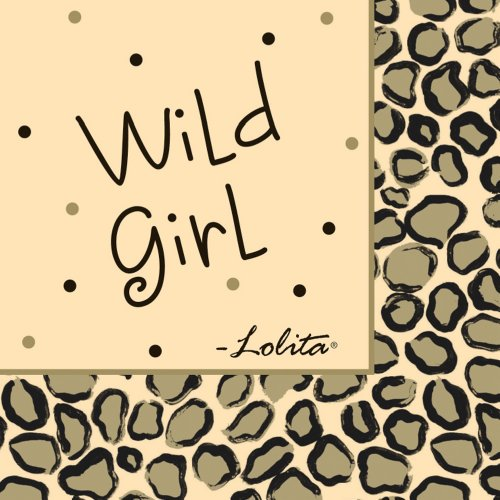 Lolita by CR Gibson Paper Cocktail Napkins, Package 20, Leopard -