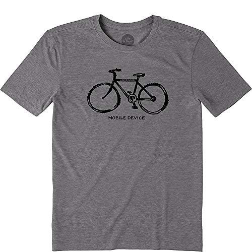 - Life is Good Men's Cool Tee Mobile Device Bike, Slate Gray, X-Large