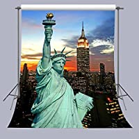 FUERMOR 5x7ft Statue of Liberty Photography Backdrop Props American Scenery Photography Background Room Mural A110