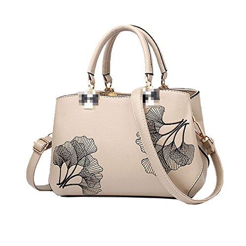 Bolso De Mano De Señora Fashion Impreso Top Handle Bag Pu Bolsa De Hombro De Cuero Para Mujeres Khaki