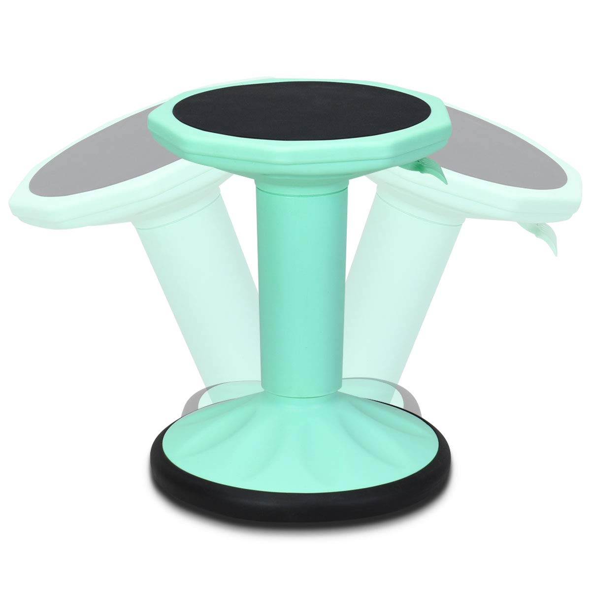 Giantex Wobble Chair Adjustable-Height Active Learning Stool Sitting Balance Chair for Office Stand Up Desk (Green) by Giantex
