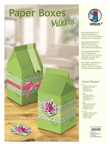Ursus Fancy Flowers - Set para el montaje de 5 cajas de papel para regalo con