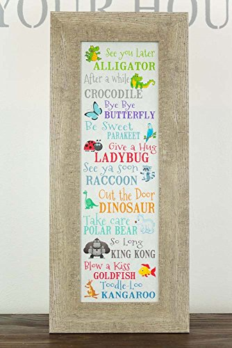 See You Later Alligator After Awhile Crocodile Children's Barnwood Nursery School Picture Decor 11x26