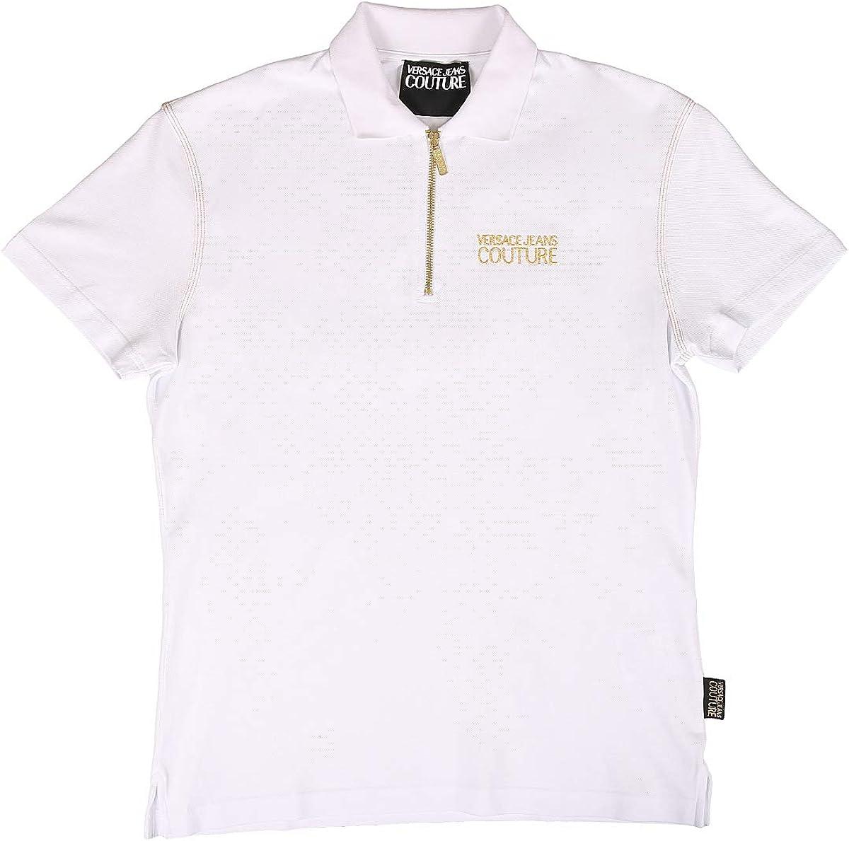 Versace Jeans Couture Slim Fit Zip Neck Polo Shirt: Amazon.es ...