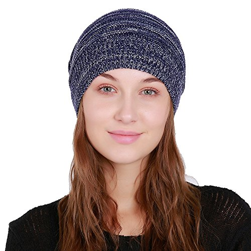 acaef49defb BUSIM Winter Beanie Caps for Women Ladies, Baggy Weave Crochet ...