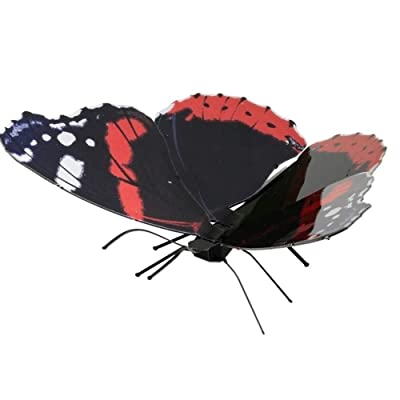 fascinations Metal Earth Red Admiral Butterfly 3D Metal Model Kit: Toys & Games