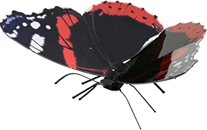 Red Admiral Butterfly Metal Earth 3D Laser Cut Metal Model MMS129 Fascinations