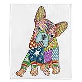 DiaNoche Fleece Blankets Soft Fuzzy 4 SIZES! by Marley Ungaro - French Bulldog - Toddler 40'' x 30''