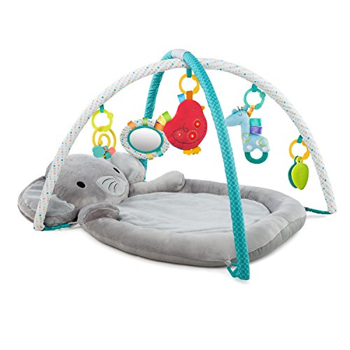 For Sale! Bright Starts Enchanted Elephants Activity Gym with Ultra-Plush Soft Mat, Ages Newborn +