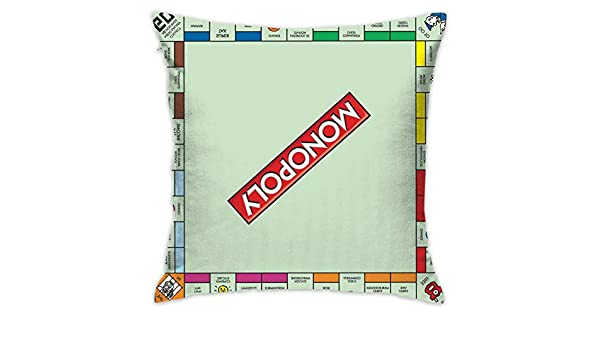 NELife Monopoly Board Art Home - Funda de Almohada Decorativa para Sala de Estar, Dormitorio, Coche (45,7 x 45,7 cm): Amazon.es: Hogar