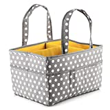 Large Baby Diaper Caddy Organizer: Storage for Diapers, Wipes & More - Polka Dot Image