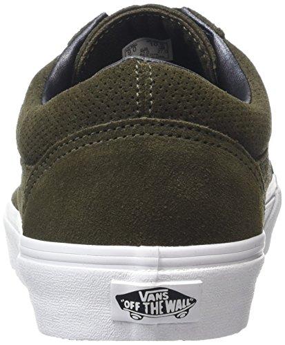 Verde Vansold Zapatillas Adulto perf Unisex Tarmac Skool White Suede true rq6TwqIc