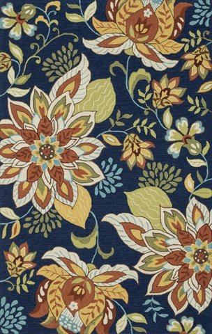 Great Loloi Rugs, FRANCESCA COLLECTION, FRACFC 34BBFB3656, BLUE / FLORAL 3u0027