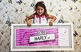 Personalized Brick Wall Street Sign Wall Art