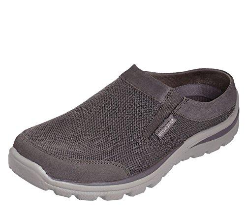 Skechers 65770 Men's Relaxed Fit Superior-Rolsen Loafer Shoe, Olive/Brown - 8 D(M) US