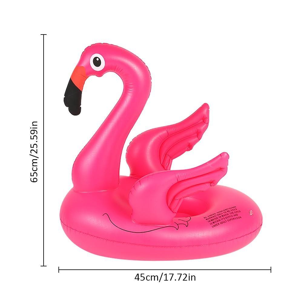 perfectshow Flotador inflable de la piscina del flamenco rosado que se sienta anillo de la natación del agua que va a caballo Amor anillo del asiento de ...