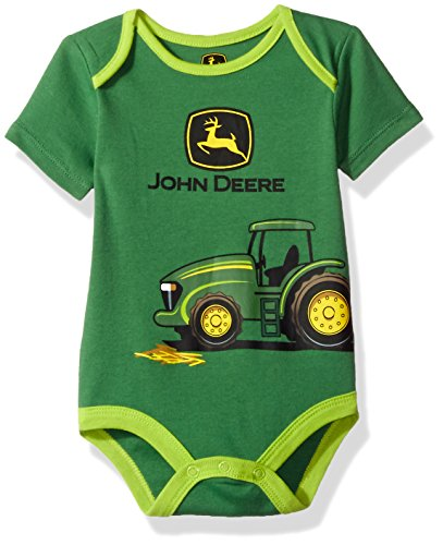 John Deere Baby Boys' Grahpic Bodyshirt, Green, 3/6M