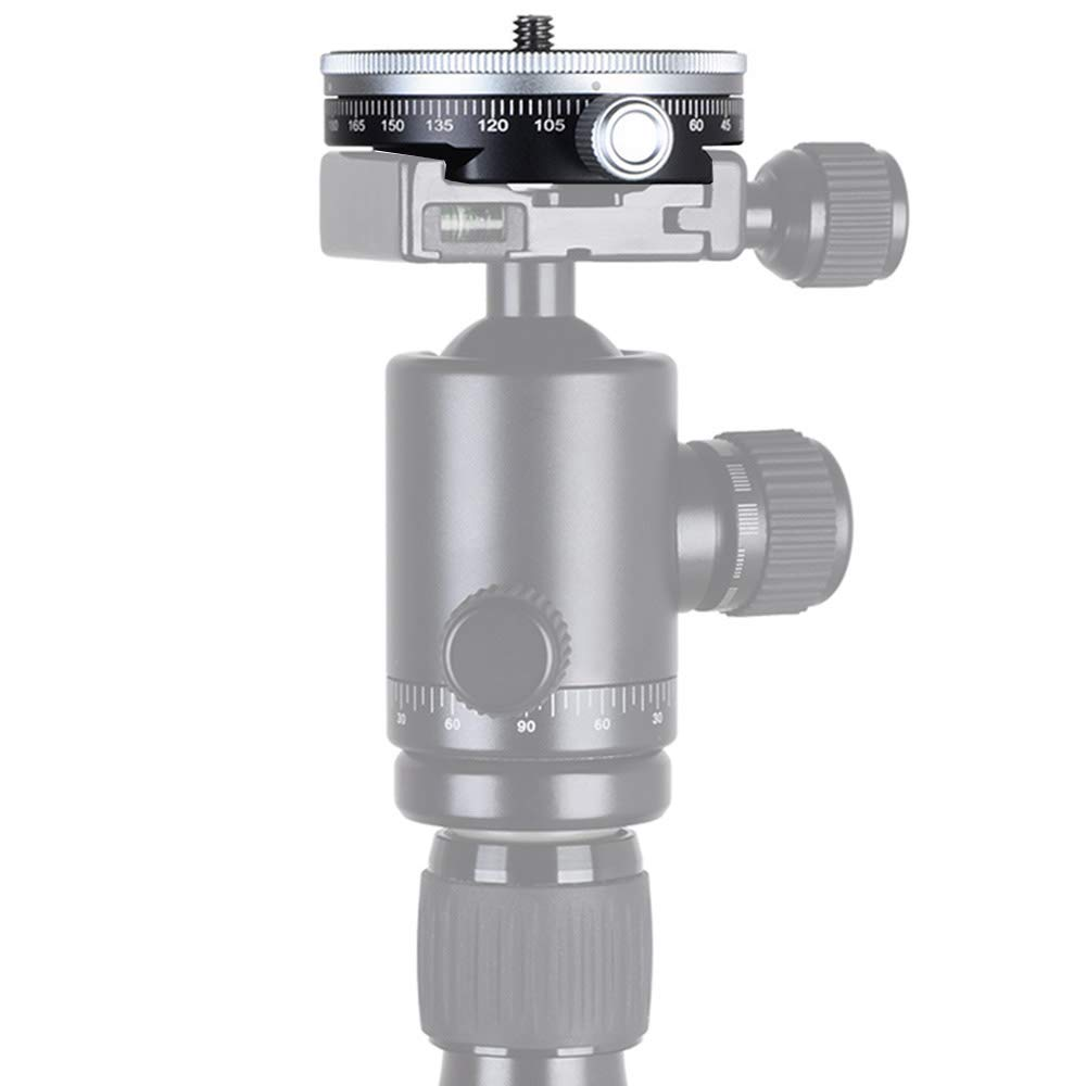koolehaoda Mini testa panoramica a 360 /° con 1//4 vite compatibile con RRS//Arca-Swiss Ball Head TPC-60 Panoramic Head