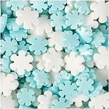 Jumbo & Mini Pearlized Snowflakes Sprinkles by Wilton