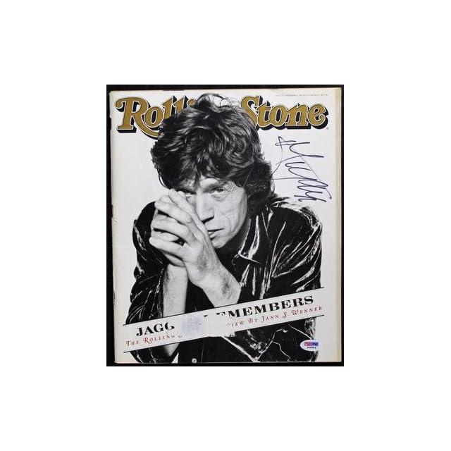Mick Jagger The Rolling Stones Signed 1995 Rolling Stone Magazine Psa #s00804   Memorabilia
