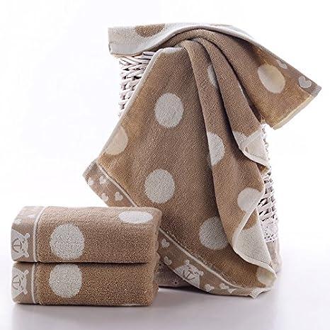 mmynl Pure algodón lavar cara agua absorción adultos toallas de mano de lavado 74 x 34 cm: Amazon.es: Hogar