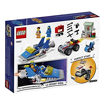 LEGO THE LEGO MOVIE 2 Emmet and Benny's 'Build and Fix' Workshop; 70821 Action Car and Spaceship Play Transportation Building Kit for Kids (117 Pieces): Toys & Games