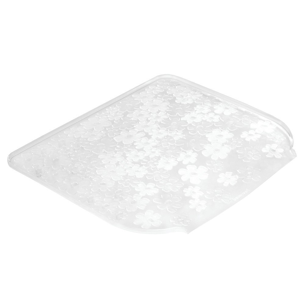 InterDesign Blumz Kitchen Dish Drain Board for Pots, Pans, Glasses, Bowls - Small, Clear 64560
