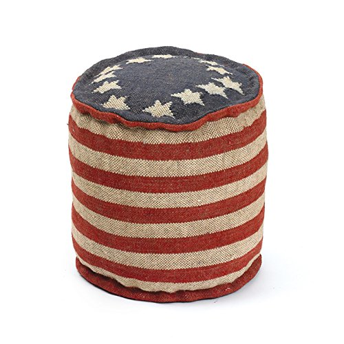 Eclipse Home Collection Betsy Ross Pouf 17'' H x 17'' Dia.